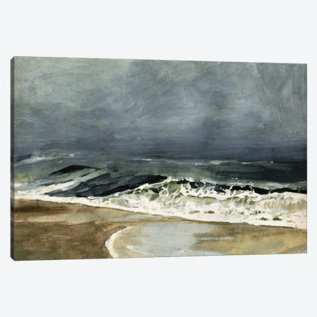 Moody Sea I 3-Piece Canvas #VBR13} by Victoria Barnes Art Print