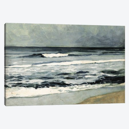 Moody Sea II Canvas Print #VBR14} by Victoria Barnes Canvas Wall Art