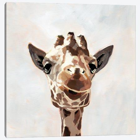 Giraffe's Gaze I Canvas Print #VBR162} by Victoria Barnes Canvas Art