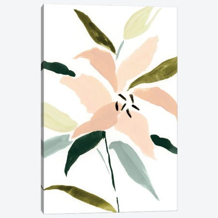 Lily Abstracted I Canvas Print #VBR169} by Victoria Barnes Canvas Wall Art