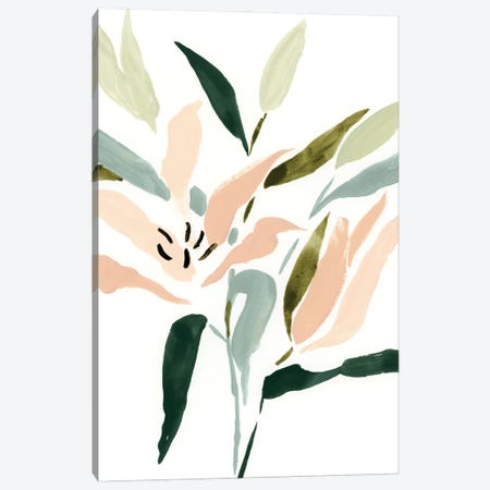 Lily Abstracted II Canvas Print #VBR170} by Victoria Barnes Canvas Print