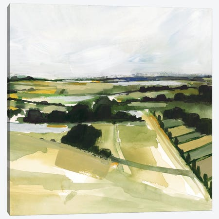 Patchy Landscape I Canvas Print #VBR193} by Victoria Barnes Art Print