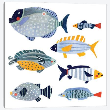 Patterned Fish I Canvas Print #VBR19} by Victoria Barnes Canvas Art Print