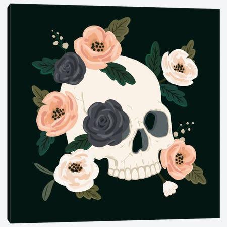Skull & Snake IV Canvas Print #VBR203} by Victoria Barnes Art Print