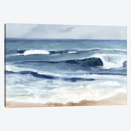 Surf Spray I Canvas Print #VBR206} by Victoria Barnes Canvas Wall Art
