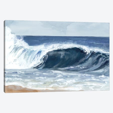 Surf Spray II Canvas Print #VBR207} by Victoria Barnes Canvas Art
