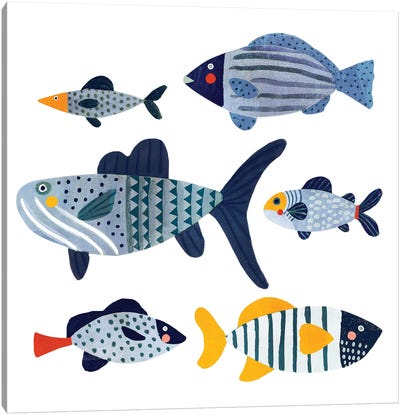 Patterned Fish II Canvas Art Print