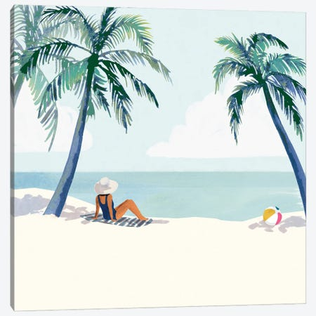 Palm Tree Paradise I Canvas Print #VBR255} by Victoria Barnes Art Print
