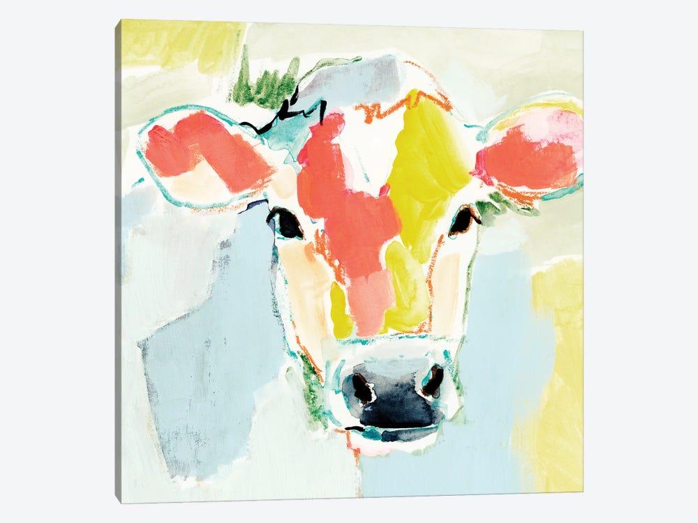 Pastel Cow I by Victoria Barnes 1-piece Canvas Art Print