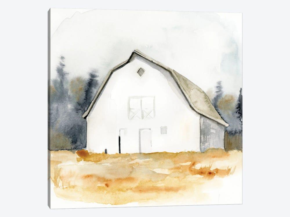 White Barn Watercolor III by Victoria Barnes 1-piece Art Print