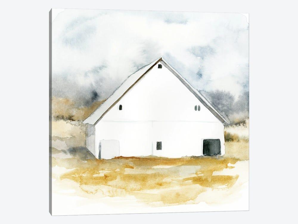White Barn Watercolor IV by Victoria Barnes 1-piece Canvas Wall Art