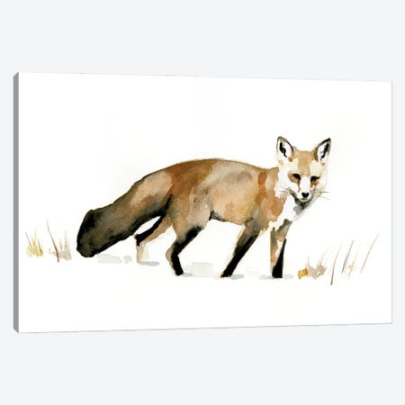 Winter Fox I Canvas Print #VBR37} by Victoria Barnes Canvas Art