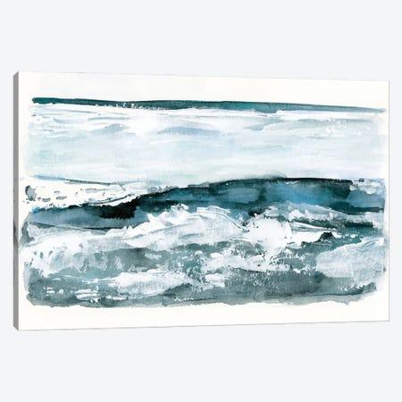 Choppy Surf I Canvas Print #VBR3} by Victoria Barnes Canvas Print