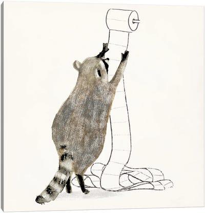 Rascally Raccoon IV Canvas Art Print