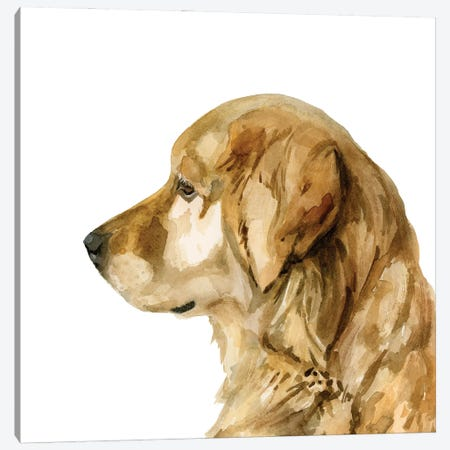 Pet Profile I Canvas Print #VBR55} by Victoria Barnes Canvas Artwork