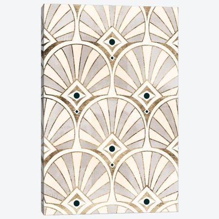 Deco Patterning I Canvas Print #VBR63} by Victoria Barnes Canvas Art