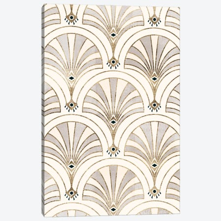 Deco Patterning II Canvas Print #VBR64} by Victoria Barnes Canvas Art Print