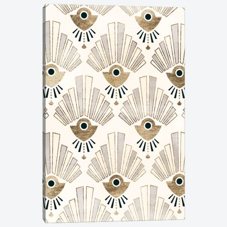 Deco Patterning III Canvas Print #VBR65} by Victoria Barnes Art Print