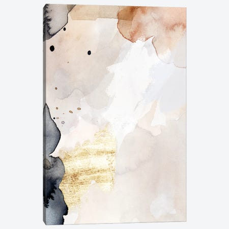 Indigo Blush and Gold III Canvas Print #VBR69} by Victoria Barnes Canvas Wall Art
