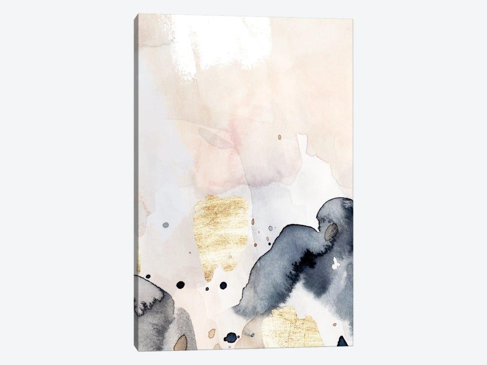 Indigo Blush and Gold IV by Victoria Barnes 1-piece Canvas Art
