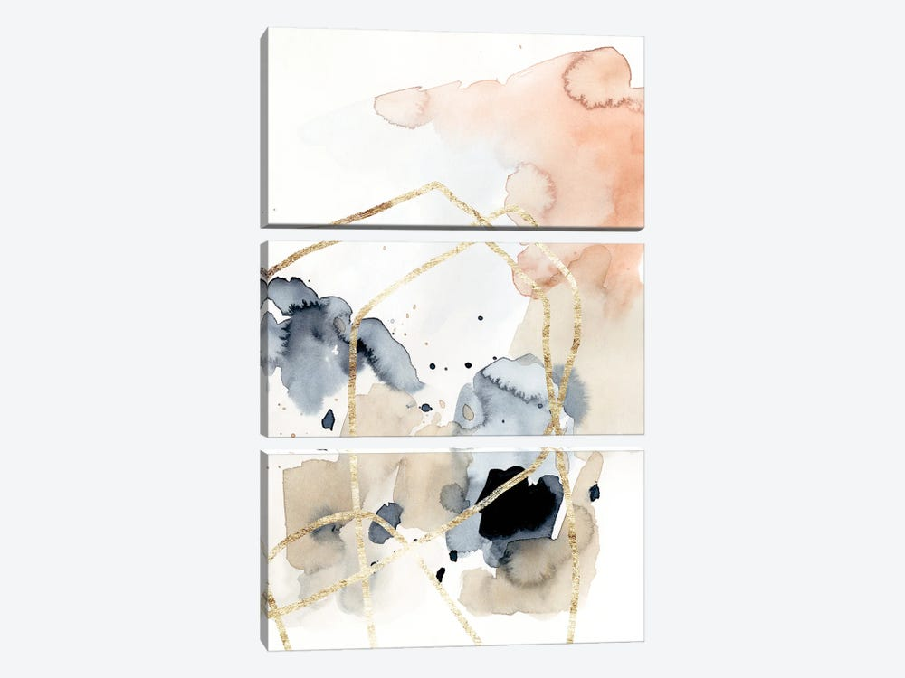 Syncopate I by Victoria Barnes 3-piece Canvas Art Print