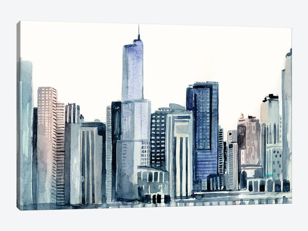 Watercolor Skyline II by Victoria Barnes 1-piece Canvas Art Print