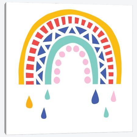 Patterned Rainbow II Canvas Print #VBR86} by Victoria Barnes Canvas Art Print