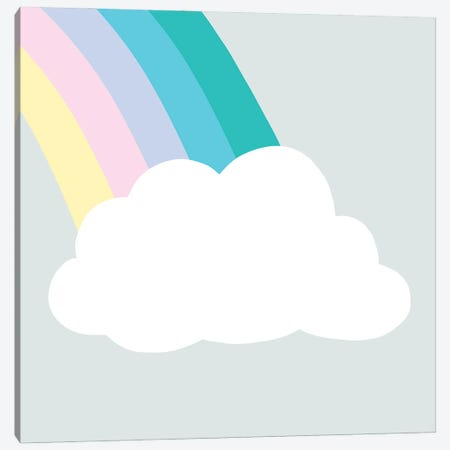 Rainbow Cloud I Canvas Print #VBR87} by Victoria Barnes Art Print