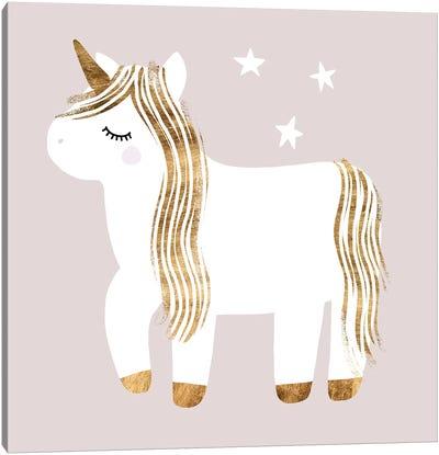 Sleepy Unicorn I Canvas Art Print