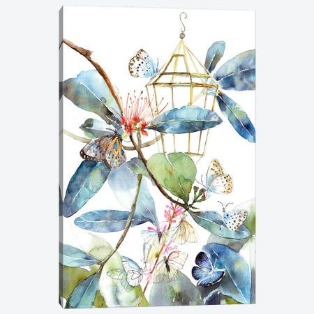 Butterfly Home 3-Piece Canvas #VBY10} by Violetta Boyadzhieva Canvas Art