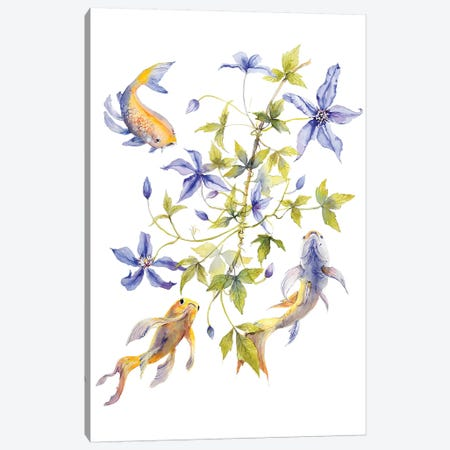 Clematis Fish Canvas Print #VBY14} by Violetta Boyadzhieva Canvas Art Print