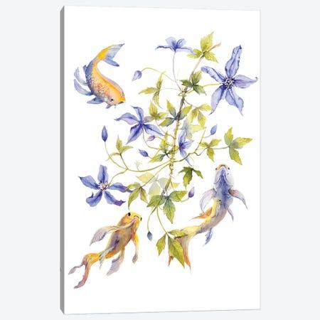 Clematis Fish Canvas Print #VBY14} by Violetta Boyadzhieva Canvas Art Print