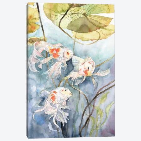 Koi Fish Canvas Print #VBY25} by Violetta Boyadzhieva Canvas Wall Art