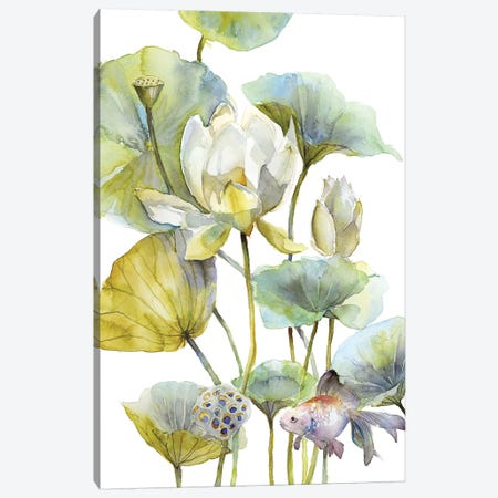 Lotus Canvas Print #VBY28} by Violetta Boyadzhieva Canvas Print