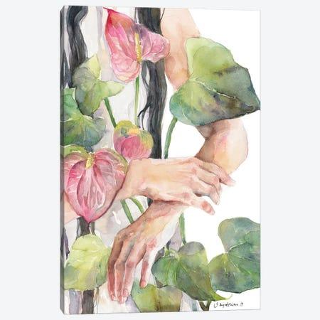 Anthurium Canvas Print #VBY2} by Violetta Boyadzhieva Canvas Artwork