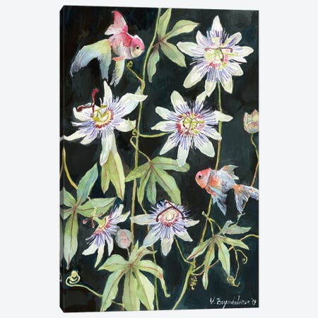 Passiflora Fish Canvas Print #VBY36} by Violetta Boyadzhieva Art Print