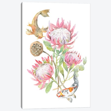 Protea Fish Canvas Print #VBY42} by Violetta Boyadzhieva Canvas Print