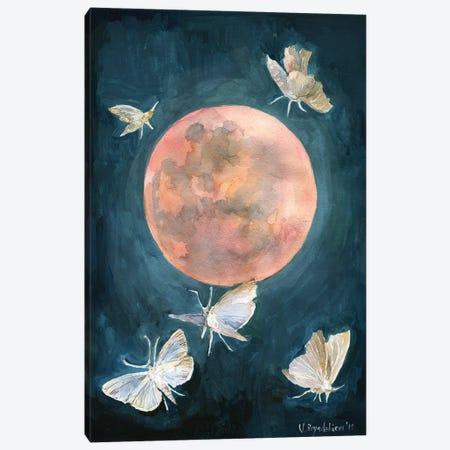 Red Moon Canvas Print #VBY43} by Violetta Boyadzhieva Art Print