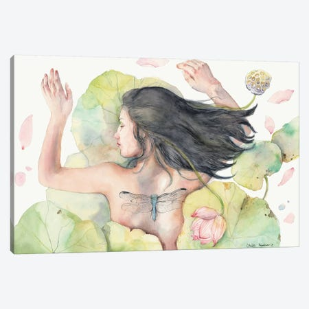 Sleeping Lotus Lila Canvas Print #VBY49} by Violetta Boyadzhieva Canvas Art Print