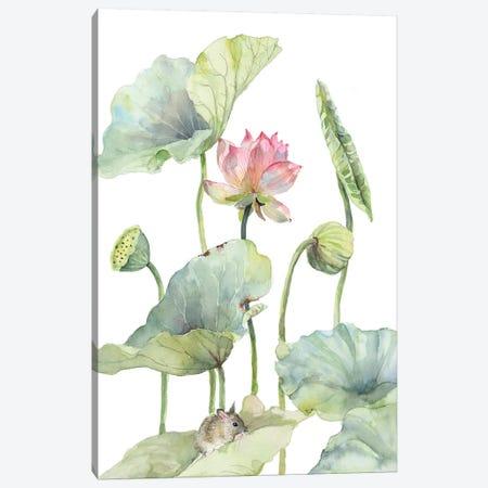 Lotus Home For A Little Mouse 3-Piece Canvas #VBY61} by Violetta Boyadzhieva Canvas Art Print