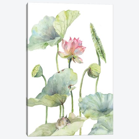 Lotus Home For A Little Mouse Canvas Print #VBY61} by Violetta Boyadzhieva Canvas Art Print