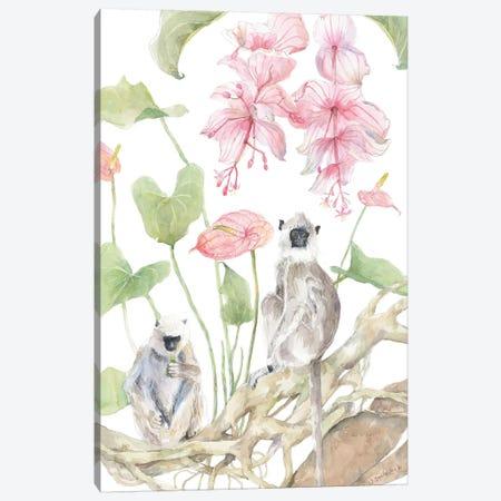 """Grey Langur Friends"" Canvas Print #VBY64} by Violetta Boyadzhieva Canvas Art"