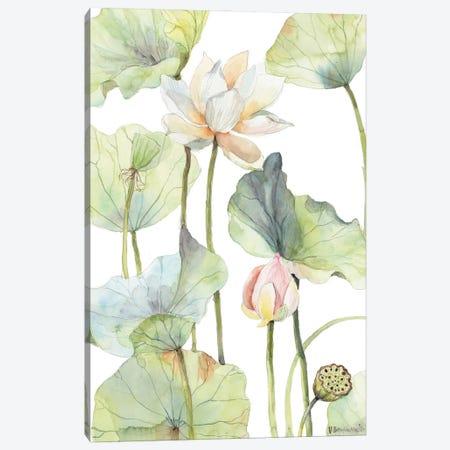 The Tall Lotus Canvas Print #VBY71} by Violetta Boyadzhieva Canvas Wall Art