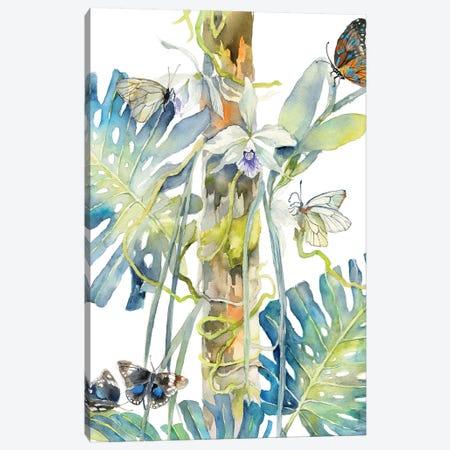 Butterflies Orchids 3-Piece Canvas #VBY9} by Violetta Boyadzhieva Canvas Artwork