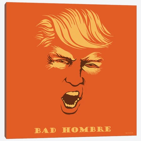 Bad Hombre Canvas Print #VCA13} by Vincent Carrozza Canvas Print