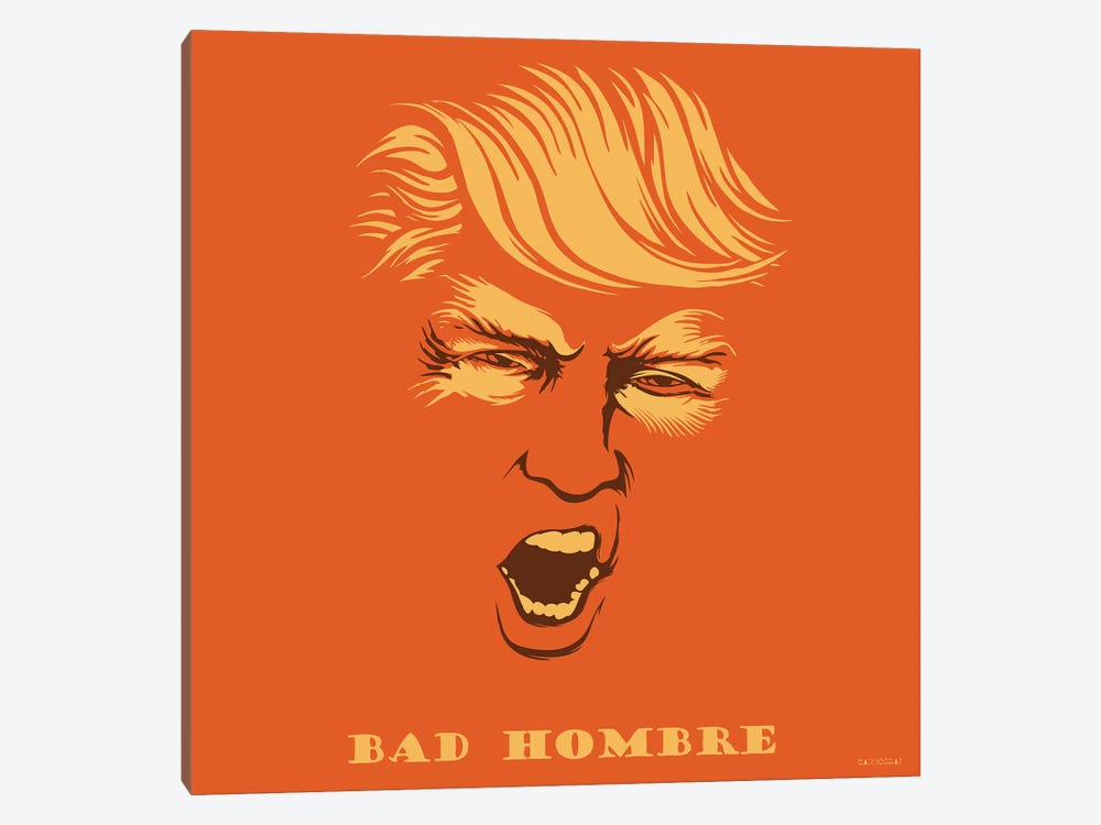 Bad Hombre by Vincent Carrozza 1-piece Canvas Art