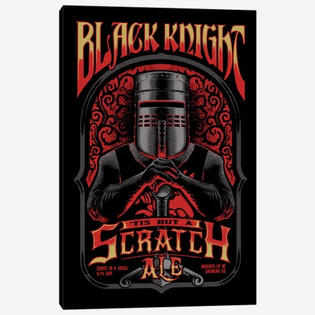 Black Knight Ale Canvas Print #VCA16} by Vincent Carrozza Canvas Artwork