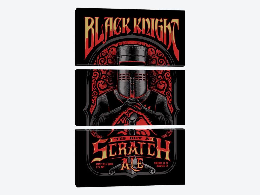 Black Knight Ale by Vincent Carrozza 3-piece Canvas Art Print