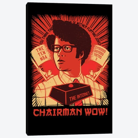Chairman Wow Canvas Print #VCA17} by Vincent Carrozza Canvas Wall Art
