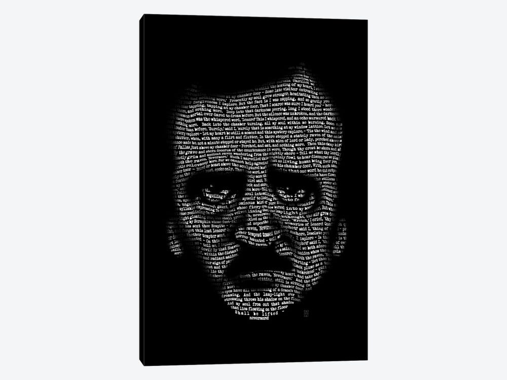 Edgar Allan Poe Nevermore by Vincent Carrozza 1-piece Canvas Print